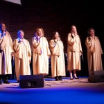 The Worship Team in their '50's choir gowns