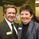 John Querney and Debi Nicholson, CEO Greater Sudbury Chamber of Commerce
