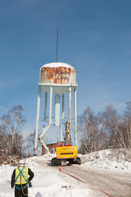 Water Tank Demolition : In the shadow of tank