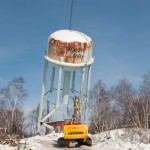 Lively water tank demolition by ProGreen Demolition of Concorde, ON