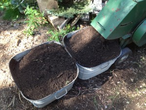 Shredded compost